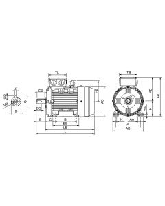 IE4 Electric motor 1,5 kW 230VD/400VY 50 Hz 3000 RPM 6020900100
