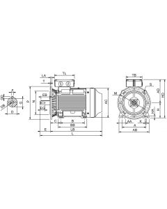 IE4 Electric motor 30 kW 400VD/690VY 50 Hz 3000 RPM 6022000400