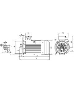 IE4 Electric motor 315 kW 400VD/690VY 50 Hz 3000 RPM 6023551200