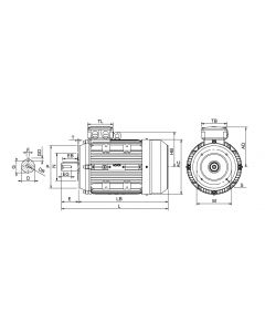 IE3 Electric motor 0,75 kW 230VD/400VY 50 Hz 3000 RPM 5520800309