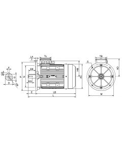 IE3 Electric motor 0,75 kW 230VD/400VY 50 Hz 1500 RPM 5540801209